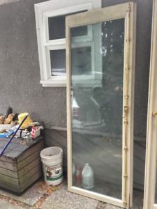 Solid wood patio doors