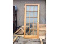 pine glass doors