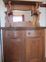 Vaisselier - buffet antique en bois