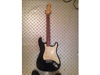 Encore Stratocaster Electric Guitar (Black)