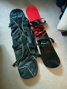 163cm Snowboard with bag