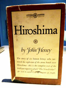 HIROSHIMA 1946 1st edition with DUST JACKET John Hersey WAR