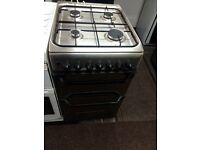 Stainless steel indesit 50cm gas cooker grill & oven good condition with guarantee bargain