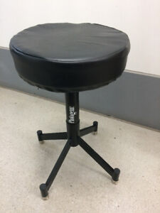 Photogenic Pneumatic Posing Stool with Glides and Padded Seat