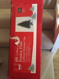 6ft B&Q Christmas tree.