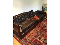 Two Stylish Moroccan 4-Seater Sofas