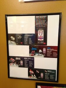 1997 MEMORIAL CUP SET OF 5 PHONE CARDS SELF FRAMED