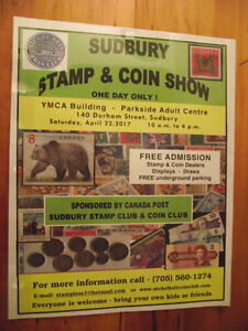 SUDBURY STAMP AND COIN SHOW