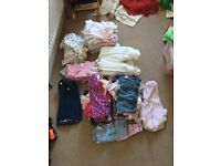 Huge bundle of 0-3 months baby girl clothes, most barely worn