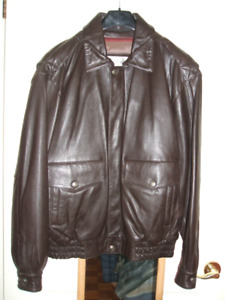Men's Large Leather Jacket and gloves