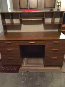 Desk with bookcase