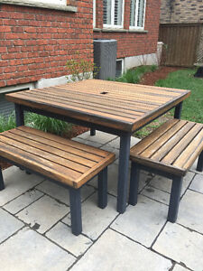 Kids Outdoor Table and Two Benches
