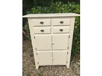 Vintage Larder Cupboard Painted in Clotted Cream