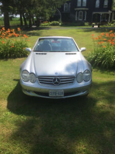 2004 Mercedes SL 500 silver/metallic