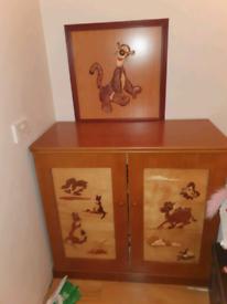 23. Kids solid oak bedroom set