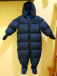 Baby Snowsuit  18-24 months (Gap, down starry puffer, blue)