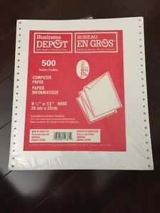 "Computer Paper 9 1/2"" x 11""  40M"