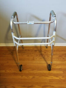 Folding Two-Wheel Walker (white)