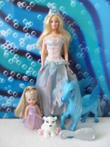Barbie Swan Lake Doll & the Magic of Pegasus Kelly set ~ NICE!