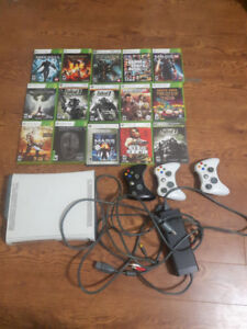 Xbox 360, 3 controllers & Games for Sale