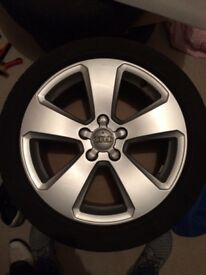 Audi OEM 17inch Alloy Wheels + Fitted Pirelli tyres