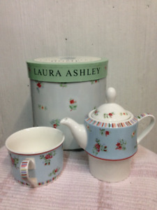Brand new Laura Ashley tea pot and cup