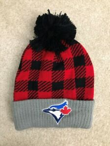 Brand New Blue Jays Plaid Lumberjack Toque Hat