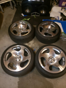 WCI rims and tires