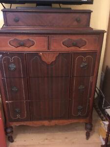 Antique highboy and dresser