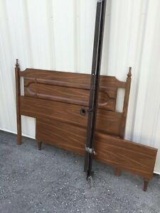 Solid wood double size bed London Ontario image 1