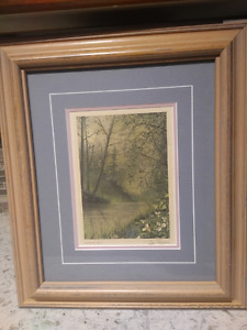 Two Framed Peter Robson prints -- smoke free home