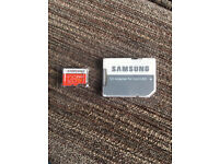 Samsung Evo+ 128gb Micro SD card and adapter for phone