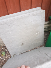 Flags/pavers, grey engineering bricks all new