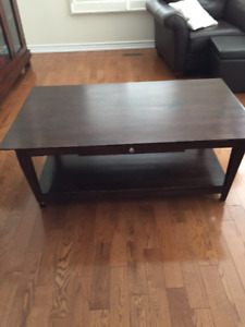 cofee table and two end tables