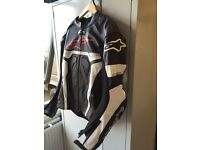 Alpinestar racing leather jacket ***free shipping***