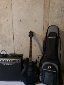 Cort Guitar and line 6 amp