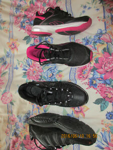 Ladies Sketchers walking shoes, 9.5B & Reebok Walking size 9B