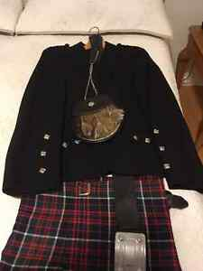 Like New Authentic Kilt - Clan Ranald Tartan - Made in Scotland