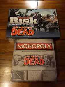 Walking Dead Monopoly and Risk