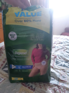 Large Depends adult diapers