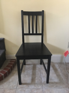 Black IKEA dining chair