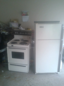 Apt size Stove and fridge