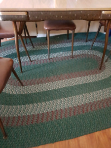 2 Braided rugs approximately (8.5 × 5.5) and 4.5 x 2.5)