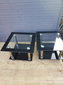 Side tables glass x 2