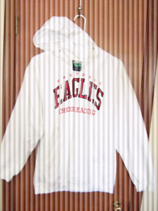 EASTDALE EAGLES WHITE SWEATSHIRT WITH HOOD
