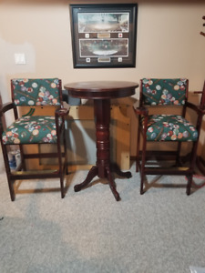 Pub Table and Pool Chairs
