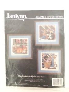Janlynn - Counted Cross Stitch Kit - Cats, Baskets, Quilts