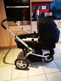 Mothercare My3 pushchair / pram with cosy toes, raincover, spare whls
