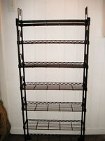 Black Wire Metal Bookcase Shelving Unit Multifunctional CD Books