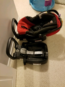 Car seat with 2 bases and lower infant car seat adapter